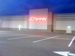 Photo: FINISHED ARROW AND LINES AT JC PENNEY AT HAMMOND SQUARE