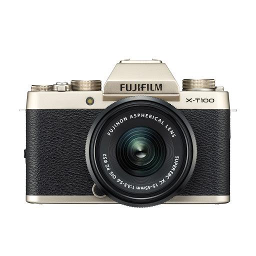 Fujifilm X-T100 15-45mm II Kit_ChampagneGold_1.jpg