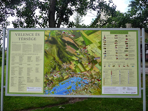 Photo: Maps of .Lake Velence and Velence can be found all around the village and the lake side.