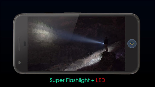 Flashlight + Super LED with Compass app (apk) free download for Android/PC/Windows screenshot