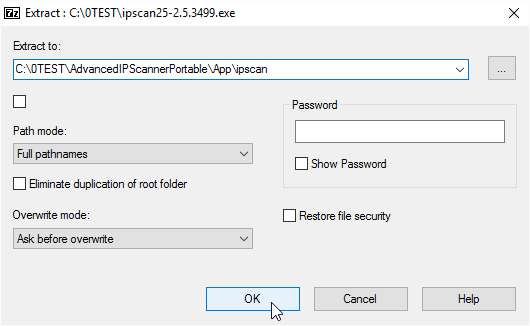 Extract to App\ipscan