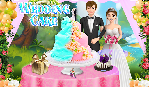 Wedding Cake Maker Girls Cooking Game apktram screenshots 6