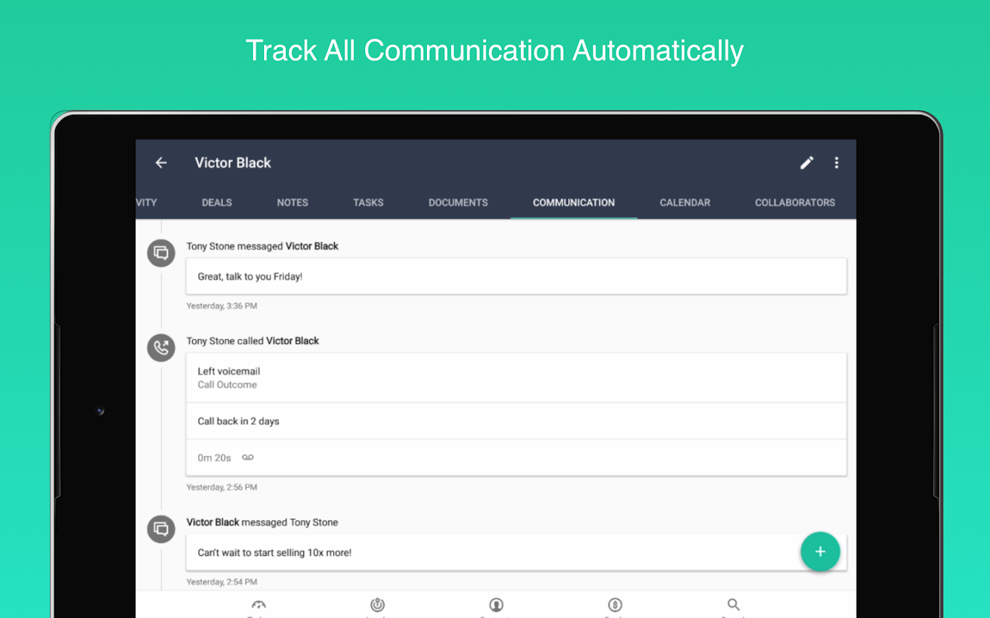 Base CRM and Sales Tracker- screenshot