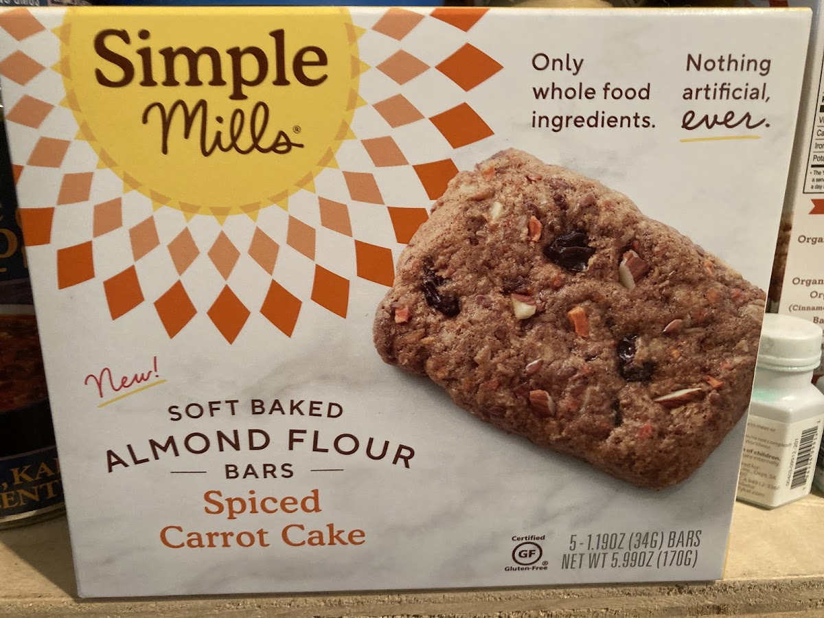 Soft Baked Almond Flour Bars Spiced Carrot Cake