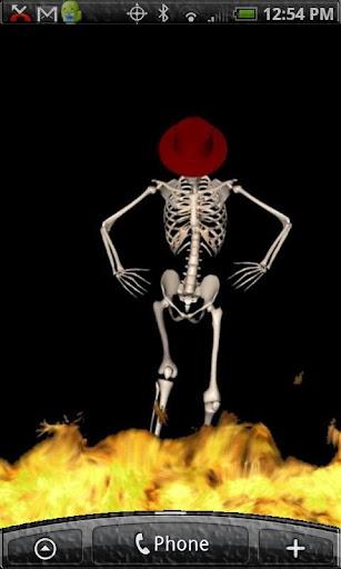 Dancing Skeleton Live Wallpaper  screenshots 1