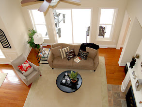 Photo: The living area in our CATALINA townhome model at The Havilands in Queensbury, New York