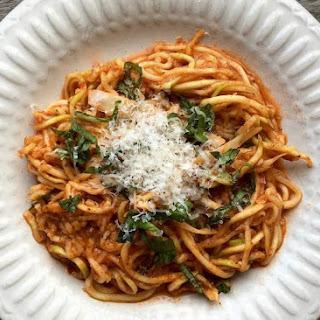 Zucchini Noodles with Arrabbiata Sauce.