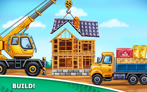 Truck games for kids – build a house, car wash 10