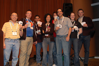 Photo: Poker winners at EclipseCon 2009