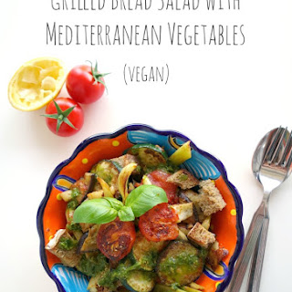 Grilled Bread Salad with Mediterranean Vegetables
