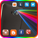 Color Flashlight alert on Call and SMS, Torch LED icon