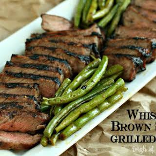 Whiskey Brown Sugar Grilled Steak.