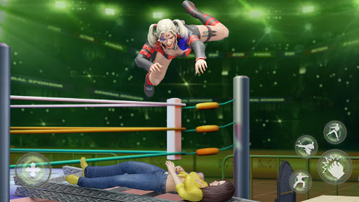 Women Wrestling Rumble: Backyard Fighting apkpoly screenshots 4