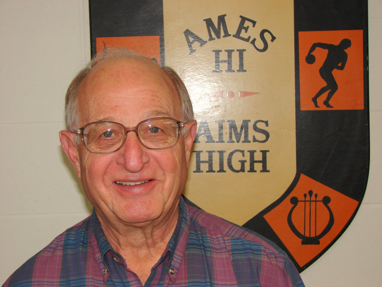 Photo: William Ripp in the AHSAA office at Ames High School  Oct 16, 2007