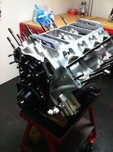 Photo: Ook de nokkenas en Geardrive zijn weer gemonteerd.