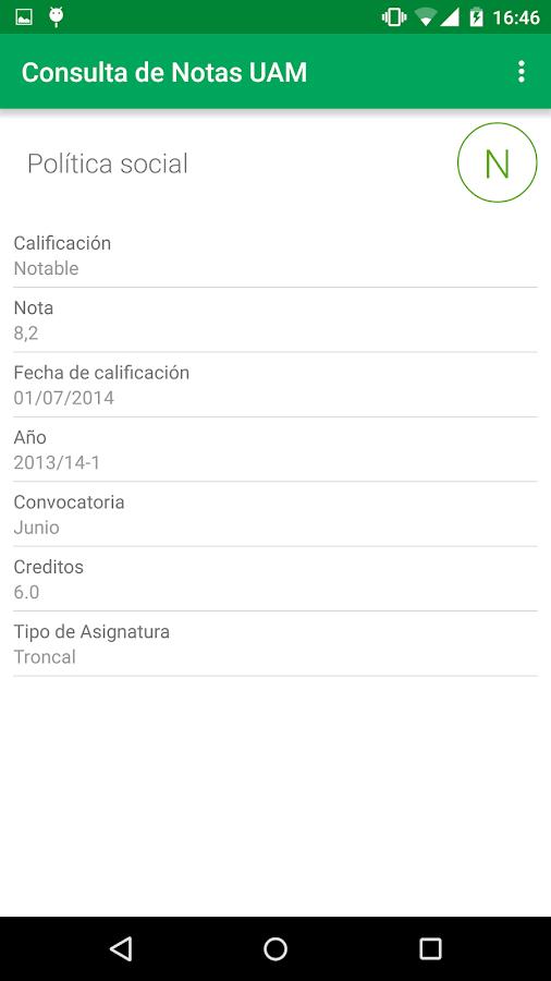 Consulta de Notas- screenshot