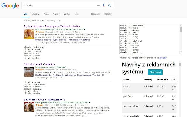 Návrhy klíčových slov v Googlu pro SEO a Copy