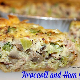 Broccoli and Ham Quiche.
