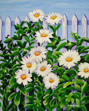 Photo: Daisies with Fence