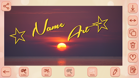 Name Art on Photo Love Calligraphy - náhled