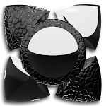 Next Launcher Theme black liz Icon