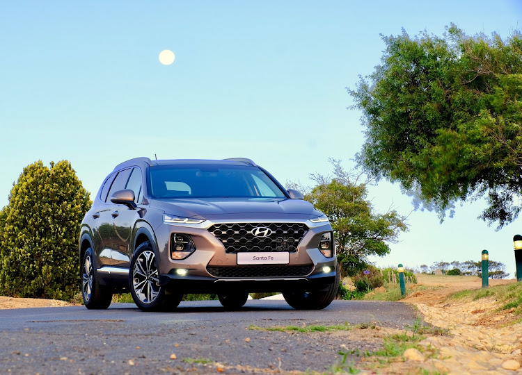 "The new Santa Fe is sculpted into a far more eye-catching shape with its slimmer front and rear lights and bolder ""cascading"" grille. Picture: SUPPLIED"