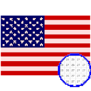 Country Flag Color by Number Paint- Flag Pixel Art