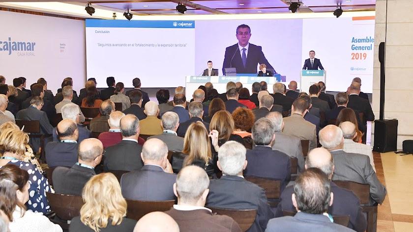 Asamblea  General de Cajamar celebrada en 2019.