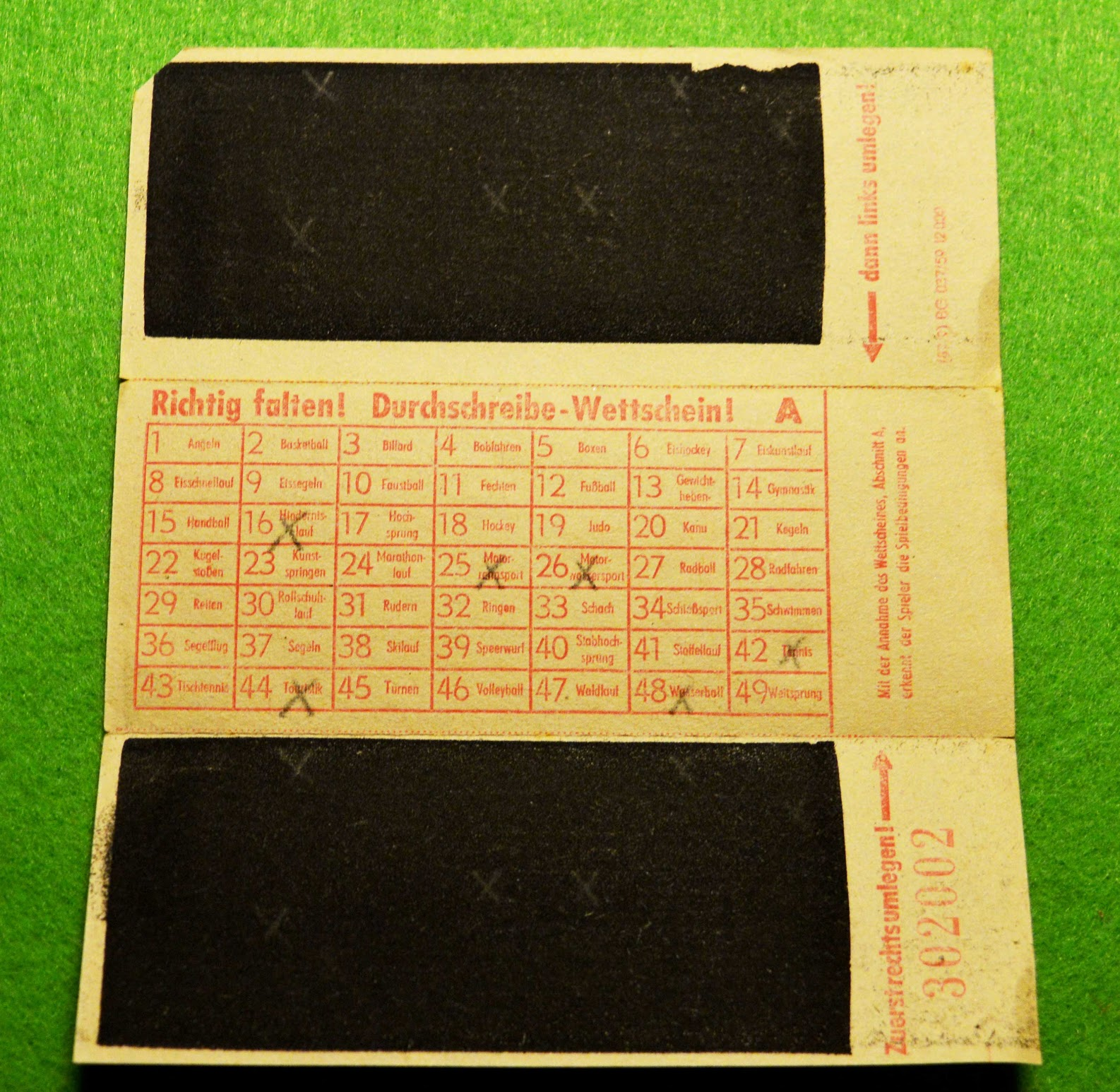DDR - Lottoschein 6 aus 49