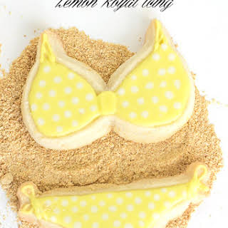 Lemon Cut-out Sugar Cookies with Royal Icing.