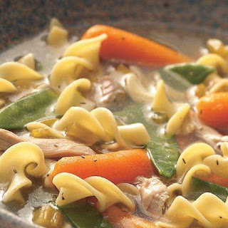 Slow-Cooker Hearty Chicken and Noodle Soup.