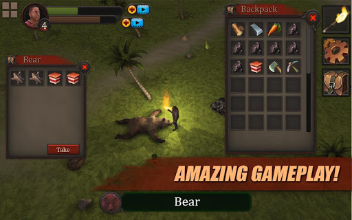 Survival Game: Lost Island PRO Games for Android screenshot
