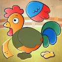 Toddler Kids puzzle game - Animals icon