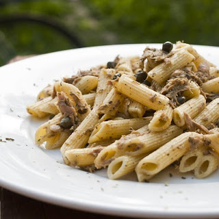 Penne with Tuna and Capers.