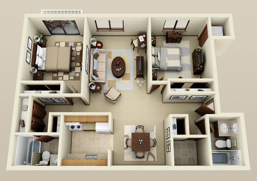 small 2 bedroom apartment model home 3d android apps on play 17081