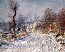 """Photo: Claude Monet, """"La strada per Giverny in inverno"""" (1885)"""