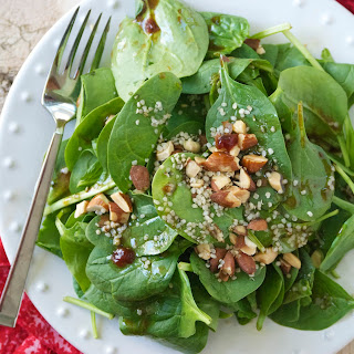 Strawberry Balsamic Vinaigrette with Spinach