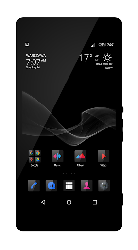 Six Black Theme + Icons app for Android screenshot