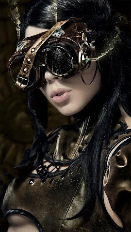 android Steampunk.Cyberbabes.Wallpaper Screenshot 2