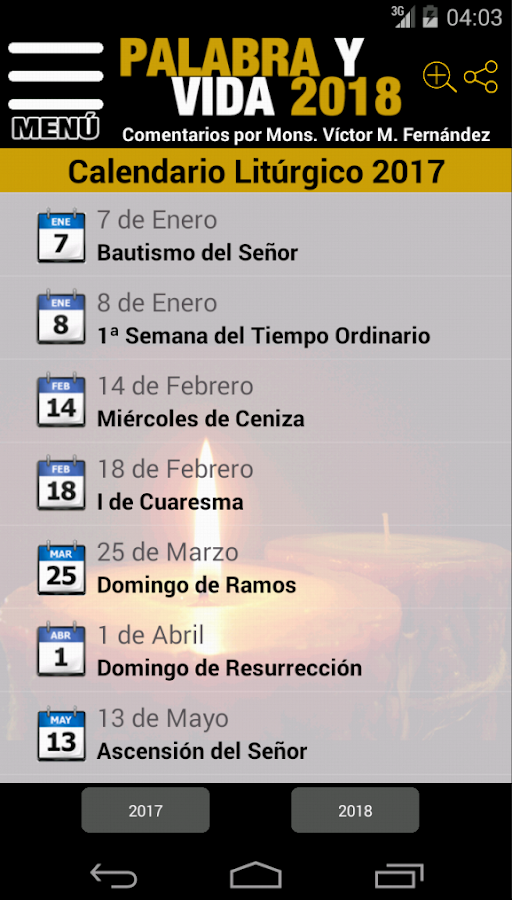 Palabra y Vida 2018- screenshot