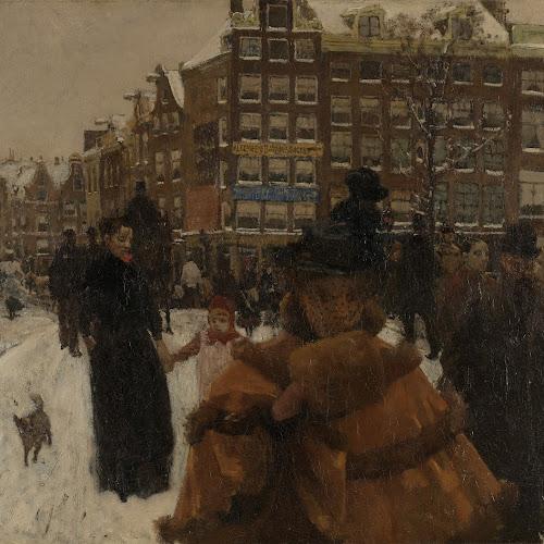 Art Nouveau In Het Rijksmuseum.De Singelbrug Bij De Paleisstraat In Amsterdam George