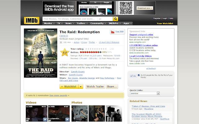 IMDb rottentomatoes scores