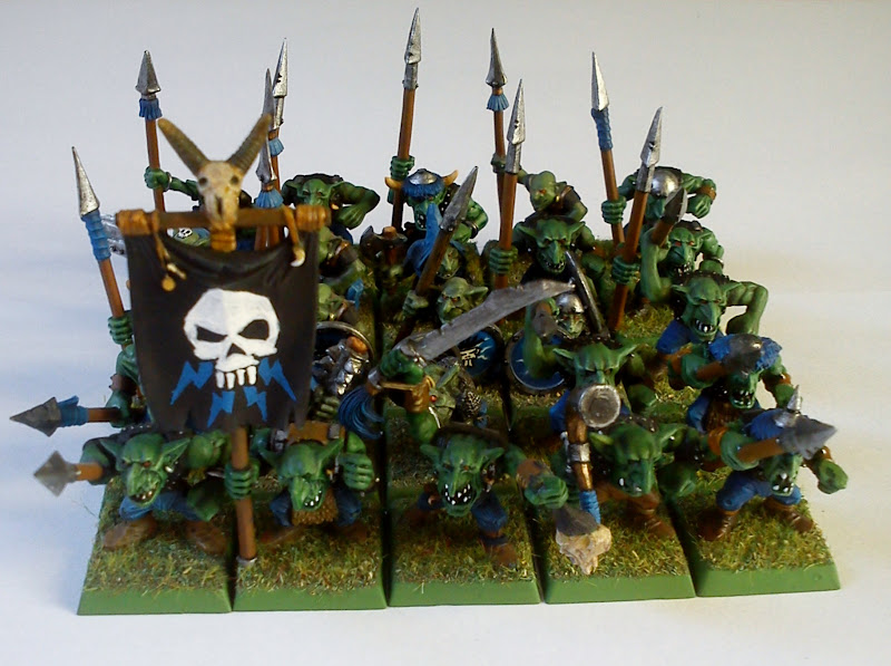 Photo: Goblin regiment. Unarmed peasants beware!