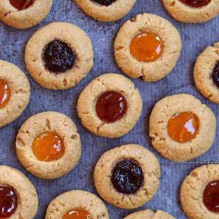 Flourless Thumbprint Cookies {Gluten-Free, Egg-Free, Dairy-Free}.
