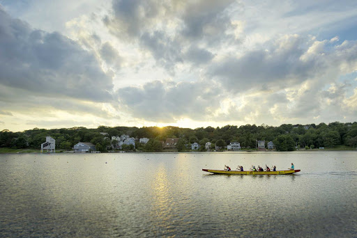 Dartmouth-Lake-Banook-rowing.jpg - Locals take part in a bracing afternoon of rowing on Lake Banook in the Dartmouth community of Halifax, Nova Scotia.