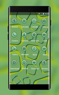 Stylish Green Theme: Pattern Wallpaper HD - náhled