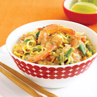 Curried Prawns with Singapore Noodles.