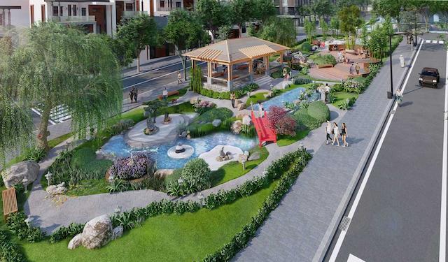 Công viên xanh tại dự án takara residence bình dương