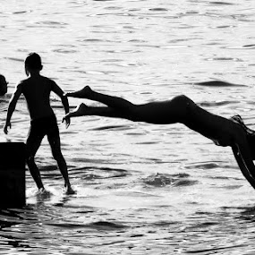 water joy by Renato Dibelčar - People Street & Candids ( water, holiday, vacation, sea, beach, people, young )