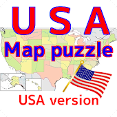 USA map puzzle free app